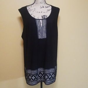 New Directions lined blouse sz 3x euc